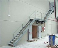 Manufacture and assembly of access stairway.